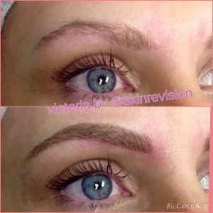 featherstroke brow tattooing
